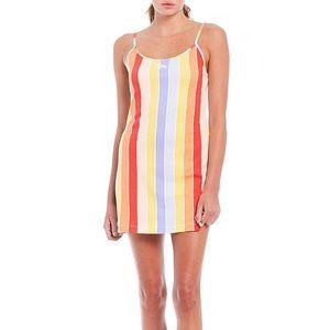 Nike Rainbow Stripe Retro Femme Tank Dress Size S